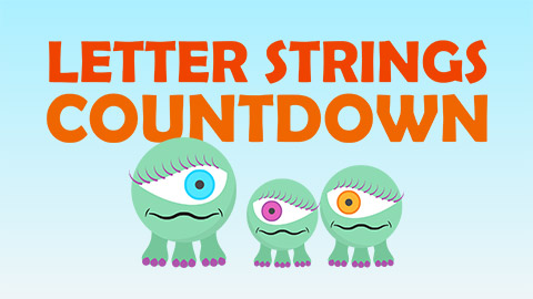 Letter Strings Countdown